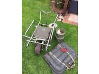 Carp Porter Mk 2 fat boy with buckets and mat