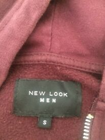 red hoodie mens uk small