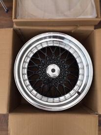 "BBS RS style brand new Alloy wheels 16"" inch x 9j 4x100 Mazda Mx3 mx5 mx-3 mx-5, MG ZR alloys wheel"