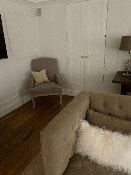 2 Neptune Sofia Armchairs Beige Linen as new., used for sale  Sevenoaks, Kent