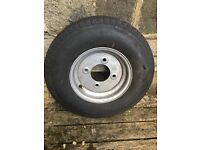 Spare Wheel & Tyre for Caravan / Trailer. 145/R10