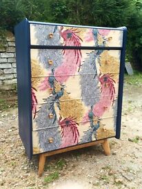 Mid Century 5 Drawer Chest of Drawers