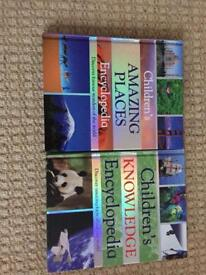 Children's encyclopaedia's Amazing Places & Knowledge.