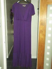 Women's Long Evening Dress, Purple [Size 22]