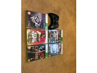 Xbox 360 with games (250gb)