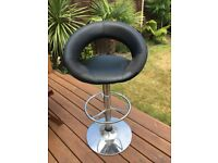Black and chrome swivel stool