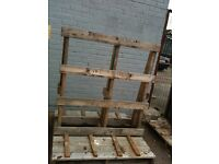 2 laRGE WOODEN PALLETS