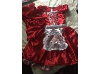 Little red riding hood costume 9-10 years