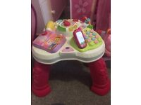 Baby girl activity table