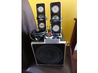 Pc speaker and sub woofer set