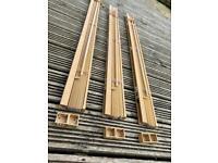 Three Venetian Blinds in Natural Wood veneer finish