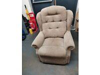 Oatmeal fireside high back armchair