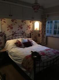 Brushed metal bedroom furniture set