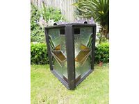 Art Deco Lead stained glass, hand crafted Rustic Garden Lantern