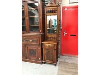 Antique style Hall cupboard with drawer and mirror