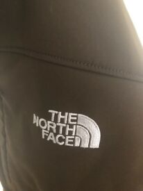 Ladies Brown Large Soft Shell Northface Jacket