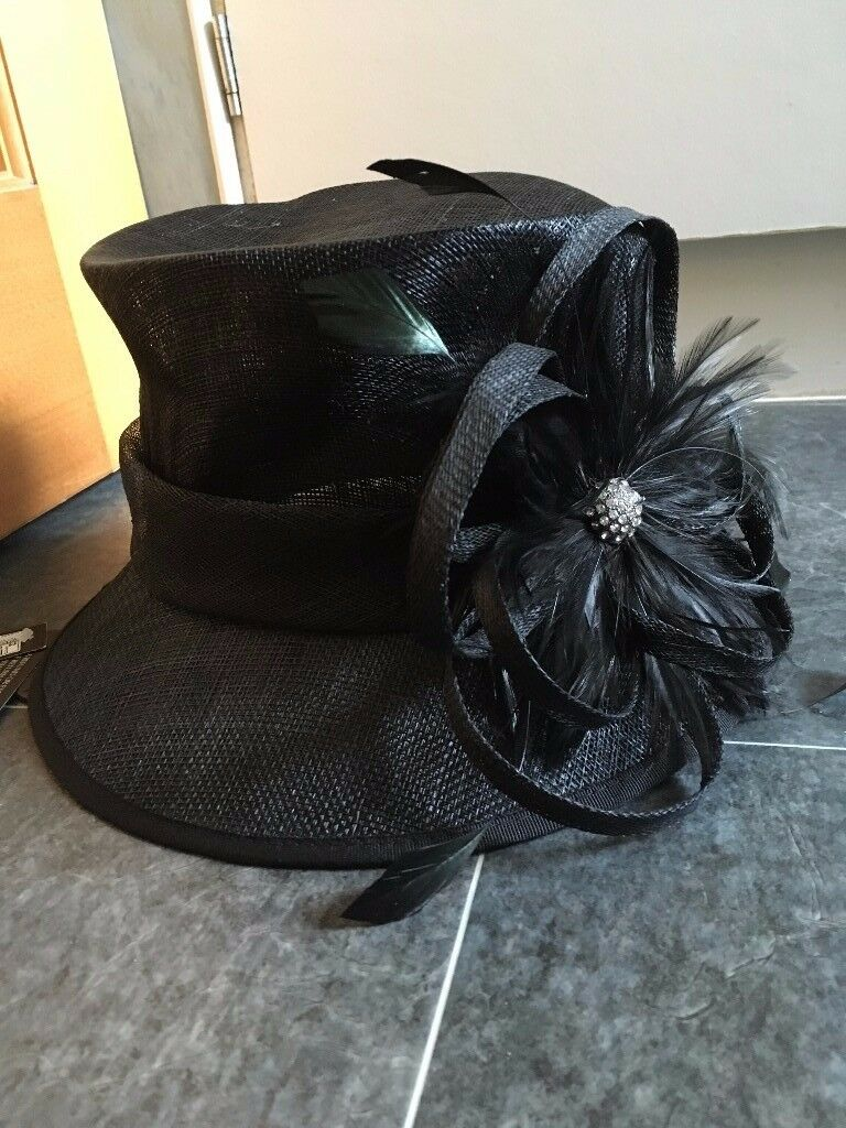Ladies M&S Black Occasion Hat, BNWT