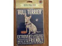Metal Bull Terrier Sign