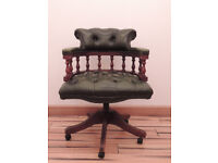 Vintage captains chesterfield chair on castors (Delivery)