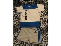 6-9 month Adidas shorts and Tshirt