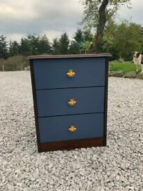 Up-cycled small chest of drawers