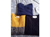 3 x River island jumpers