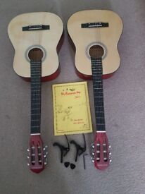 2 quality guitars with accessories