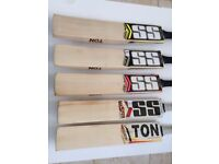 2018 SS TON Cricket Bats Pro, Gold, Master 9000, Limited Edition and SS I-Bat; Player Range