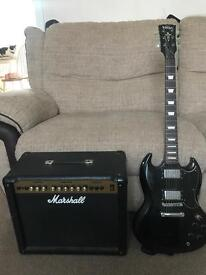 Vintage SG with 80W Marshall amplifier