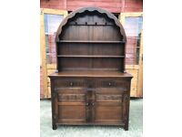 Oak Dutch Dresser Jaycee Display Unit With Drawers & Cupboard Cabinet - Delivery Available
