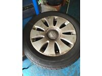 16 INCH AUDI SEAT VW ALLOYS WITH TYRES 5x112 £60 ovno