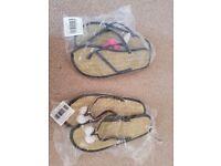 Brand New Accessorize flip flops size L