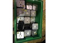 Metalclad Mk 5 Amp round pin socket theatre lighting JOB LOT lighting bar dimmer pack