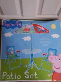 Pepper pig patio set