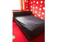 Leather king bed frame