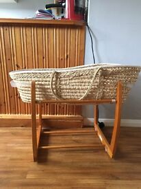For sale - Moses basket and rocking stand