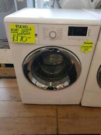 BEKO WHITE 10 KG LOAD 1400SPIN WASHING MACHINE