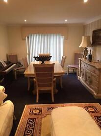 Brunswick Furniture village designer table & 6 Chairs mark Webster Rrp£2,500
