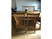 Real Oak Dining and Coffee Table + Chairs FOR SALE