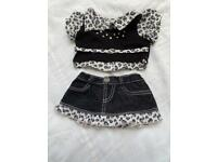 Build a Bear leopard outfit with shoes