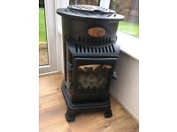 Provence portable gas cast iron real flame heater