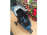 Baby Jogger City Mini 3 Wheel Pushchair - TEAL - Mint condition