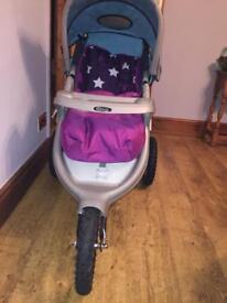 Graco 3 wheel stroller pram for sale!
