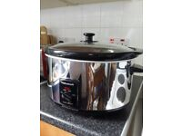 Morphy Richards Electric 6.5l Large Stainless Steel Oval Slow Cooker