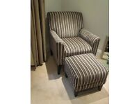 Next Armchair and Matching Foot Stool (North Manchester)