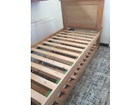 Trundle Bed - Wooden bed frame and guest bed