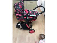 Cosatto flamingo fling travel system. Excellent condition