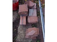 Assorted brand new clay roofing tiles