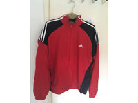 Rare Adidas Track Top Jacket - Red, Navy, White - Size XL - New
