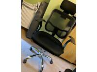 Adjustable Lumbar Support Office Chair with Headrest and Breathable mesh. Good condition